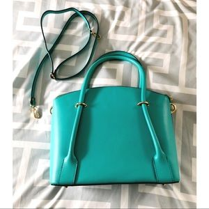 Handbags - • teal leather purse •